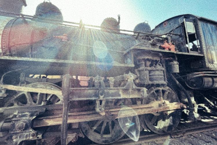 decaying locomotive