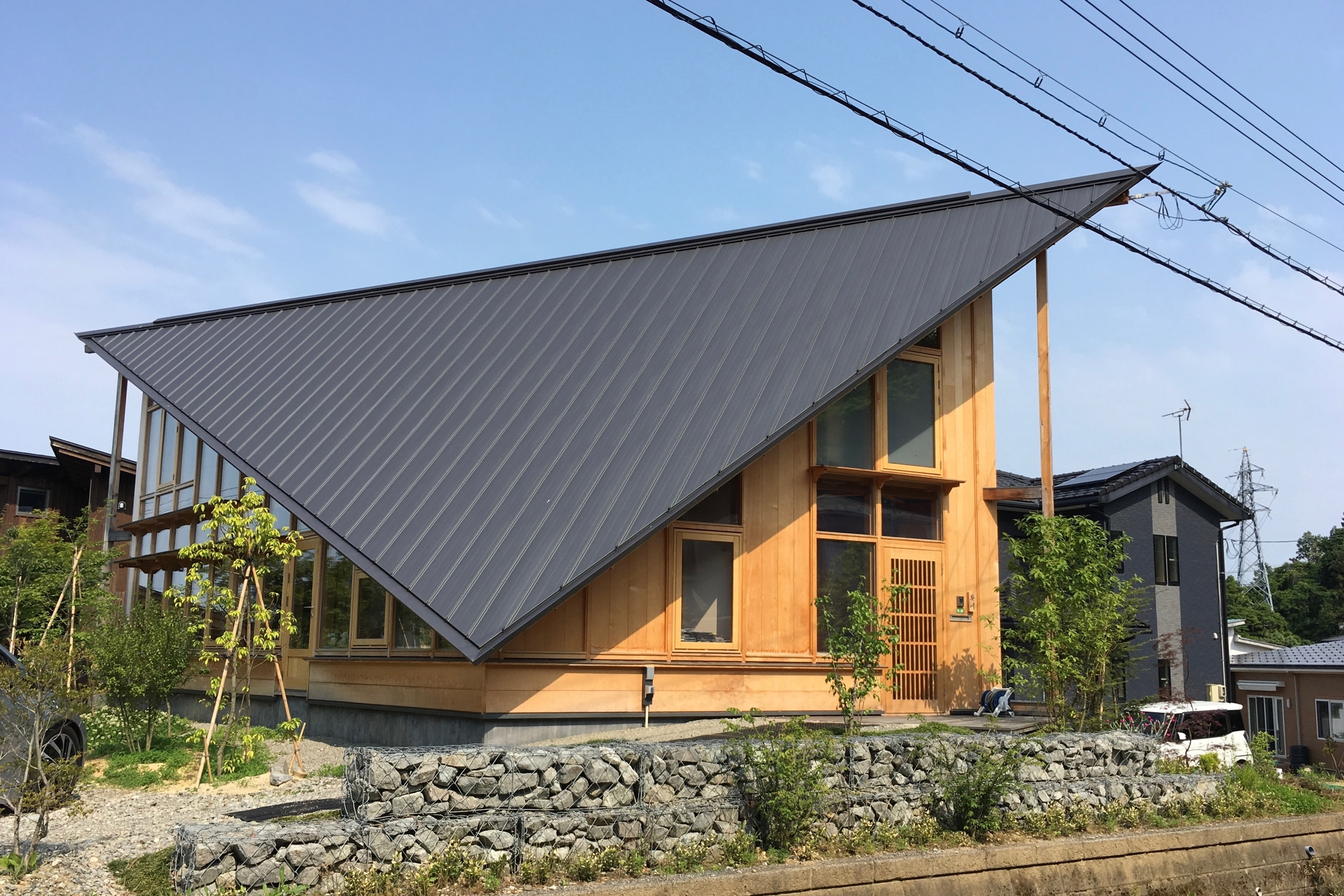 pointed house