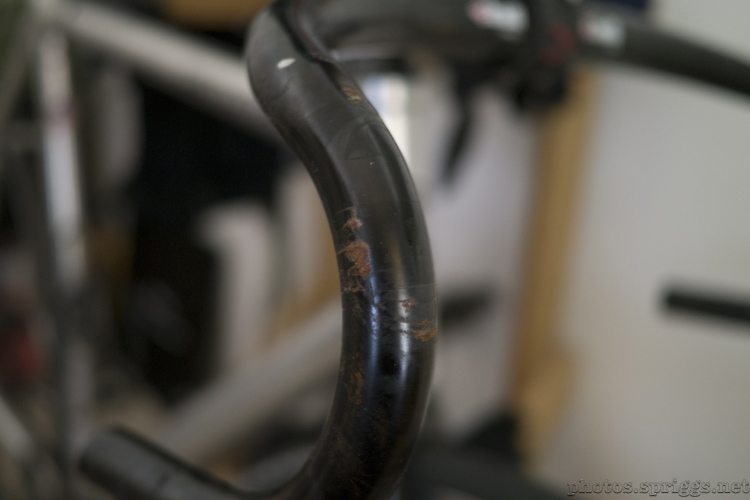 rusted handlebar