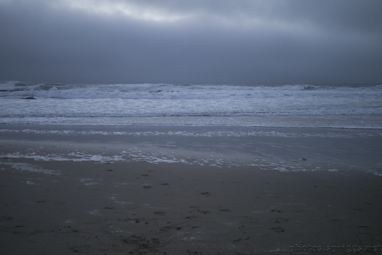 incoming tide and fog